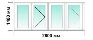Остекление балкона в доме серий п-30, цена под ключ.