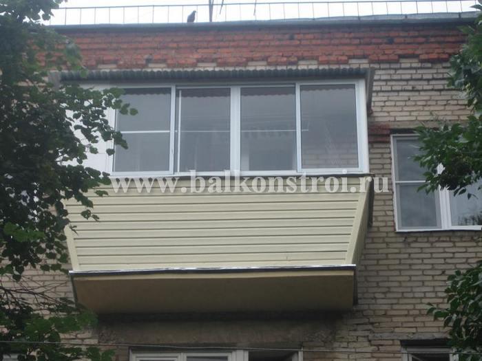 Фото остекления балкона алюминиевым профилем provedal в мыти.