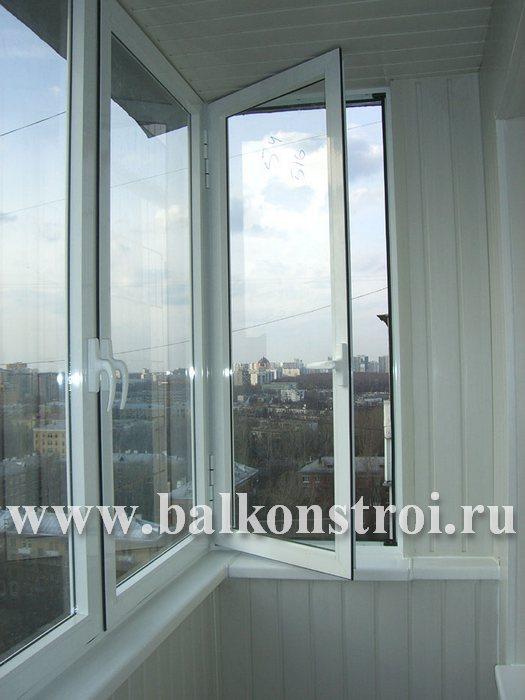 Фото распашного остекление балкона алюминием в долгопрудном.