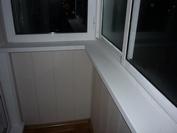 Балкон, отделка матовыми пвх панелями