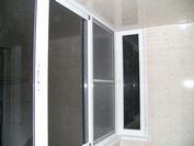 Фото остекления балкона в пятиэтажках, алюминием в подольске.