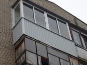 Отделка балконов, лоджий оцинкованным гофролистом, фото, цен.