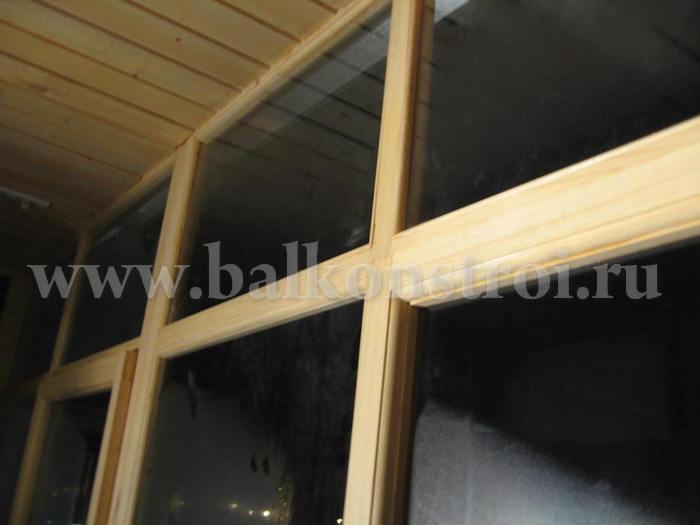 Своими руками деревянной балконной рамы.