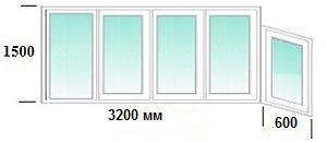 Остекление балконов лоджий в домах серии 1-515/9ш, цены.