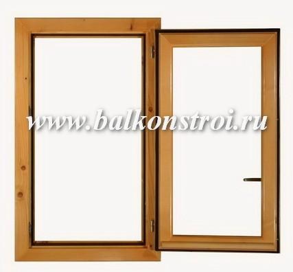 одностворчатое деревянное окно раскрыто