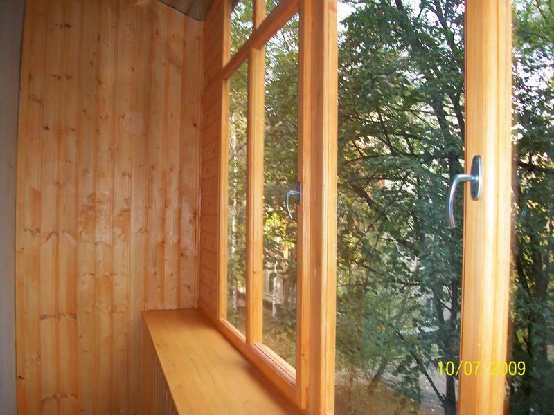Изготовление простых деревянных рам для балкона дешево..