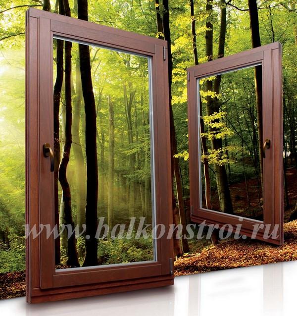 деревянные окна для балконов с стеклопакетом