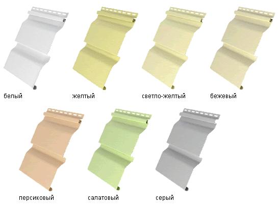 Образцы винилового сайдинга и цвета