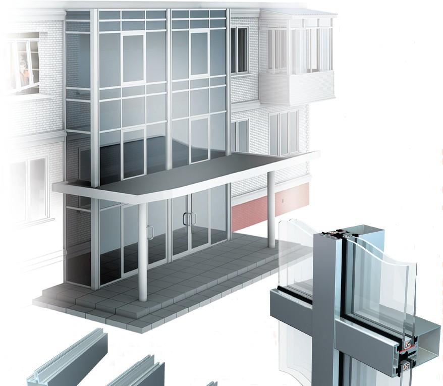 Собрать самому алюминиевые балконные окна krauss.