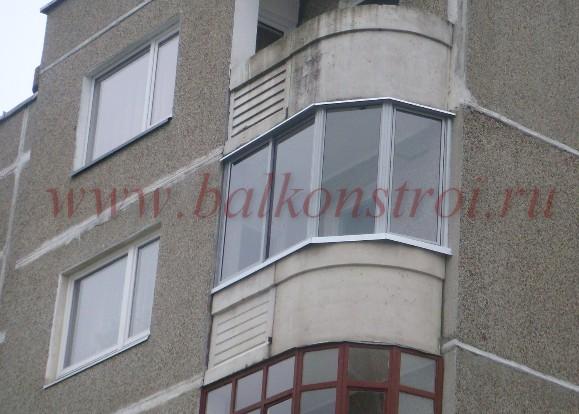 лоджия остеклённая пвх окнами