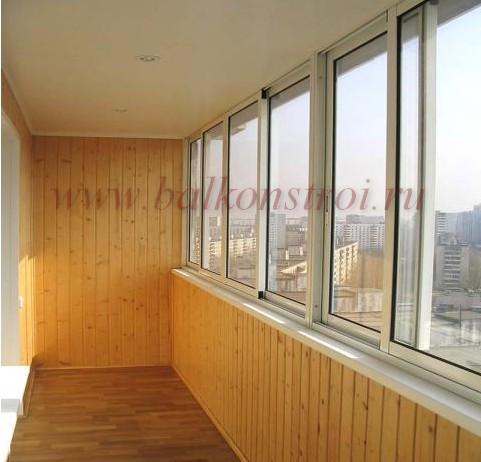 балкон обшит панелями мдф