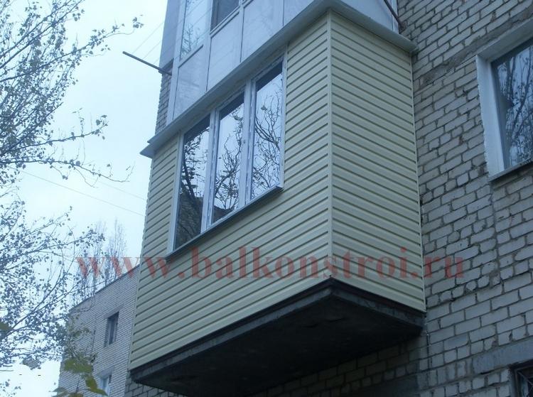 отделка балкона вениловым сайдингом