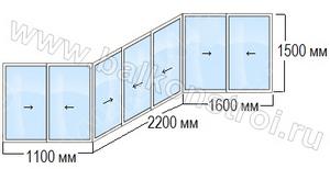 схема балкона п3